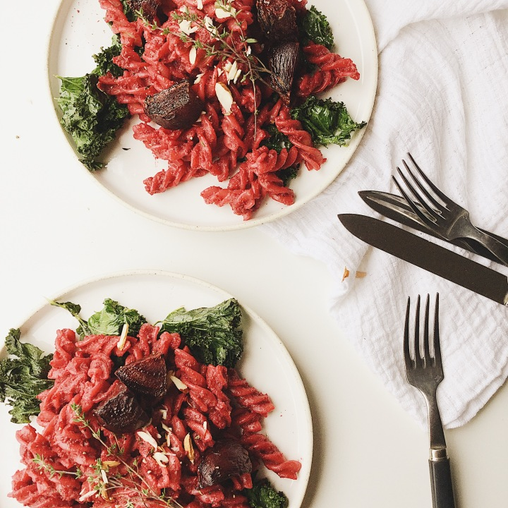 Roasted Beet Pasta Sauce with Thyme (V/GF)